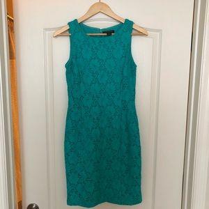 Ralph Lauren Lace Cocktail Dress Turquoise Size 4